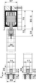 Ferrements pour portes coulissantes HAWA-Junior 250/B