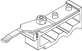Butée de rail pour HAWA-Junior 250 A/B