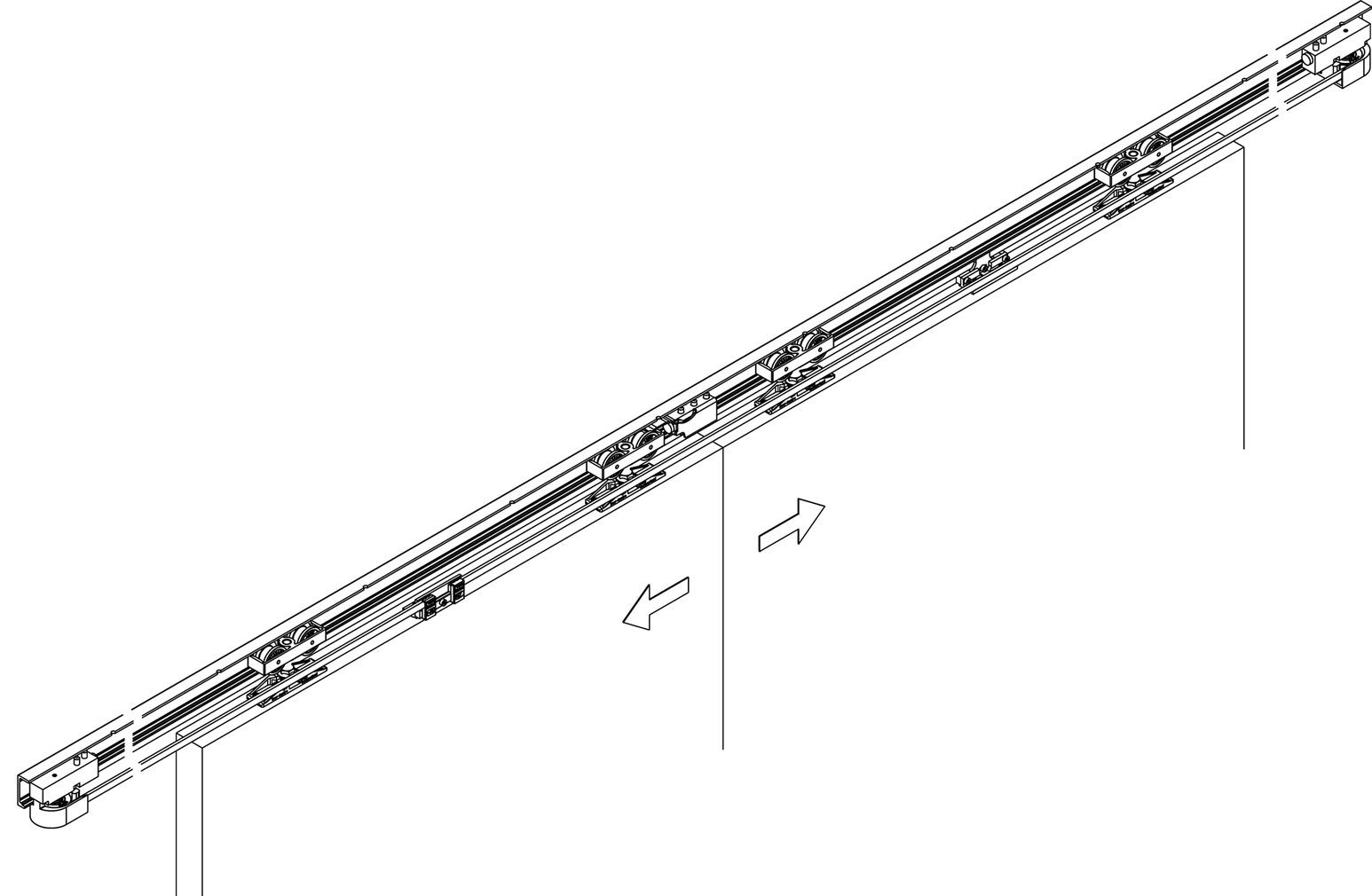 Ferrements pour portes coulissantes HAWA-Symmetric 80/Z
