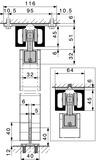 Ferrements pour portes coulissantes HAWA-Super 500/B