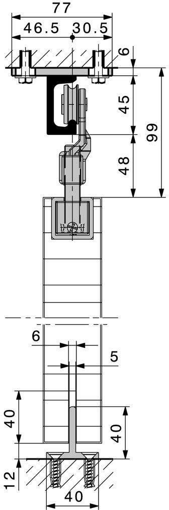 Ferrements pour portes coulissantes HAWA-Super 500/A