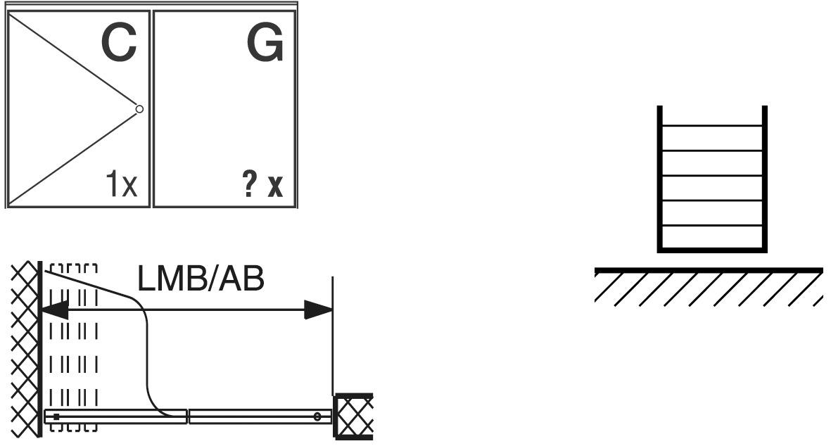 Ferramenta per pareti scorrevoli HAWA-Aperto 60/H