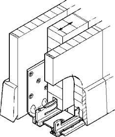 Guide da pavimento HAWA-Confort 160 per porte scorrevoli, doppio
