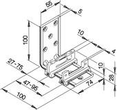 Guide da pavimento HAWA-Confort 120 per porte scorrevoli, doppio