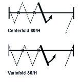 Garniture de porte pivotante HAWA-Vario-/Centerfold 80/H contre le paquet de portes pliantes,