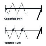 Ferramenta per porte in battuta HAWA-Vario-/Centerfold 80/H per impianto