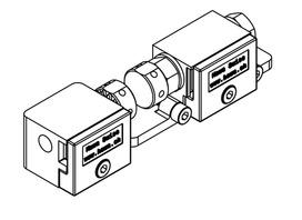 Schiebeladen-Beschlagsystem HAWA-Frontslide 60/matic