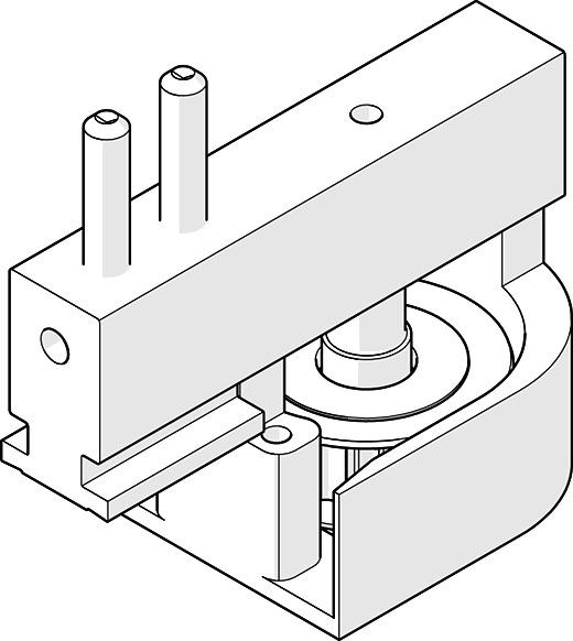 Ferrements pour volets coulissantes HAWA-Frontslide 60/matic