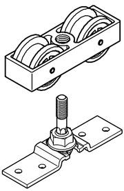 Kit parziale per persiane scorrevoli HAWA-Frontslide 60/matic