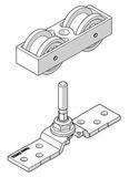 Garniture partielle pour volet coulissant HAWA-Frontslide 60/matic