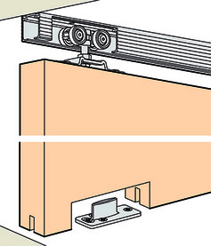 Ferrements pour portes coulissantes EKU-PORTA 45 H