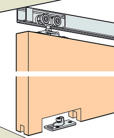 Ferrements pour portes coulissantes EKU-PORTA 60/100 H