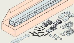 Set complet ferrements pour portes coulissantes EKU-PORTA 60 HC