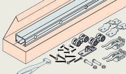 Kit completo ferramenta per ante scorrevoli EKU-PORTA 60/100 HC