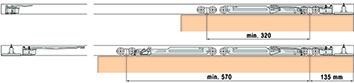 Rientro ammortizzato per EKU-PORTA 60/100 / DIVIDO 100