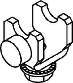 Schienenstopper mit Gummipuffer EKU