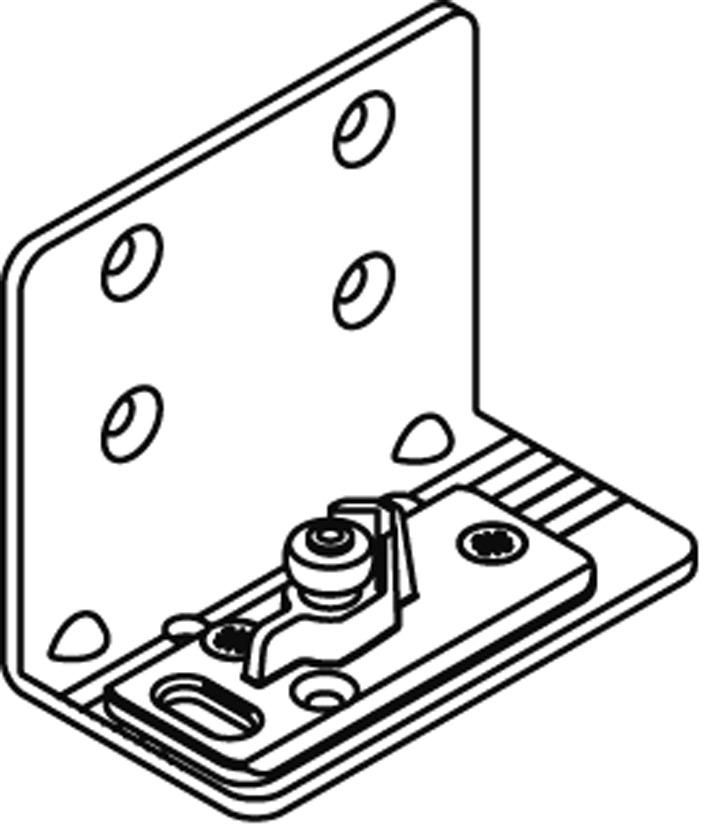 Guide da pavimento con carrucole per EKU-PORTA 60/100