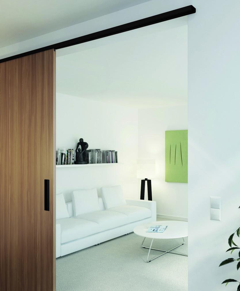 Ferrements pour portes coulissantes EKU-PORTA 60/100 HMD noir