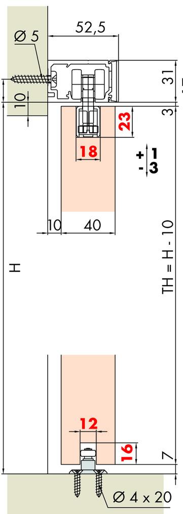 Schiebetürbeschläge EKU-PORTA 60/100 HMD schwarz