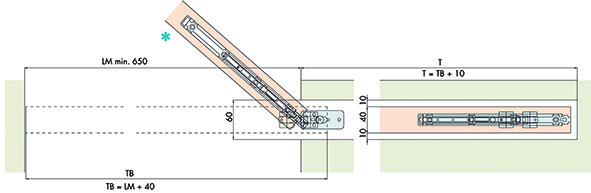 Ferramenta per porte scorrevoli EKU-PORTA 60 e 100 HMT