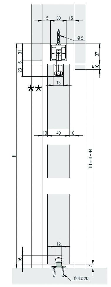Komplett-Set HAWA Porta 100 HMT Pocket