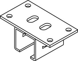 Supporti a T per fissaggio al soffitto per EKU-PORTA 300 H