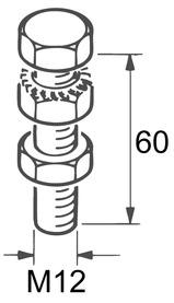 Vis porteuse M12/60 pour EKU-PORTA 600 H