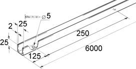 Rotaia di guida per EKU-PORTA 300 H + 600 H
