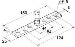 Bodenführungsrollen für EKU-PORTA 300 H + 600 H