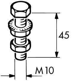 Viti portanti M10/45 per EKU-PORTA 300 H