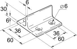 Guide da pavimento a T per EKU-PORTA 300 H + 600 H