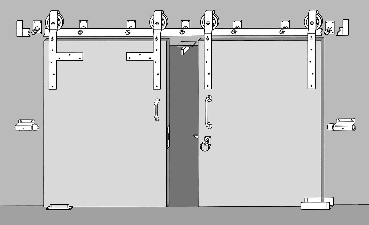 Galets pour portes roulantes avec bras WEBI