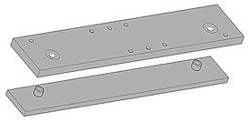 Plaques de montage pour ferme-porte GEZE TS 3000 et TS 2000 NV