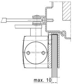 Glasklemmschuh zu Türschliesser GEZE TS 3000 und TS 2000 NV