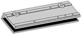 Morsetto fermavetro per chiudiporta GEZE TS 3000 e TS 2000 NV