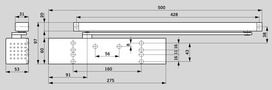 Ferme-porte DORMA TS 93 B Basic design Contur