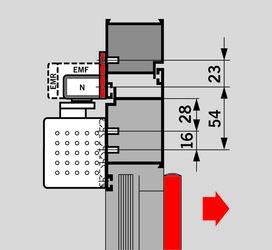 Montageplatte zu Gleitschienen G-EMF