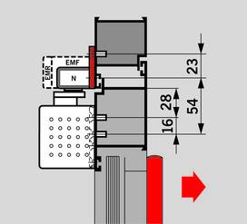 Montageplatte zu Gleitschienen G-EMR