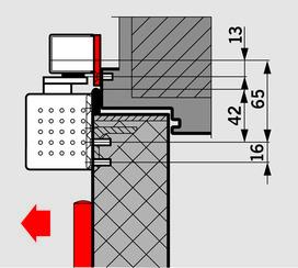 Kit di placche di montaggio per guide di scorrimento G-SR flach