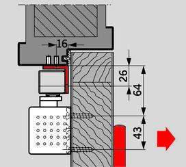 Set de supports à équerre pour DORMA G-SR/BG