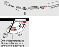 Limitatore d'apertura per guide di scorrimento DORMA G-N
