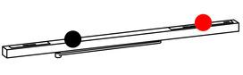 Guide di scorrimento con braccio DORMA G-EMR/DCW design Contur