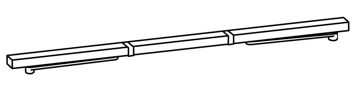 Glissières avec régulateur de fermeture DORMA GSR design Contur