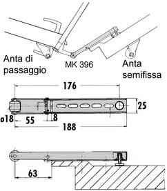 Braccio trascinatore DORMA MK 396