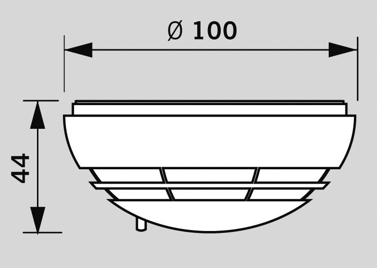 Détecteur de fumée DORMA RM-N design Contur