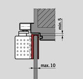 Sabot pour portes en verre pour DORMA TS 92 design Contur
