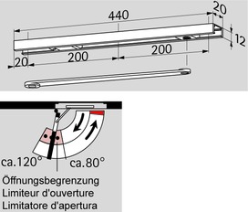 Guide di scorrimento DORMA G 96 N 20 K8/12