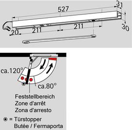 Glissières DORMA G 96 EMF / K8 / K12