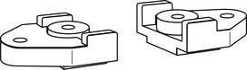 Elementi di fissaggio per guide di scorrimento DORMA G 96 N20