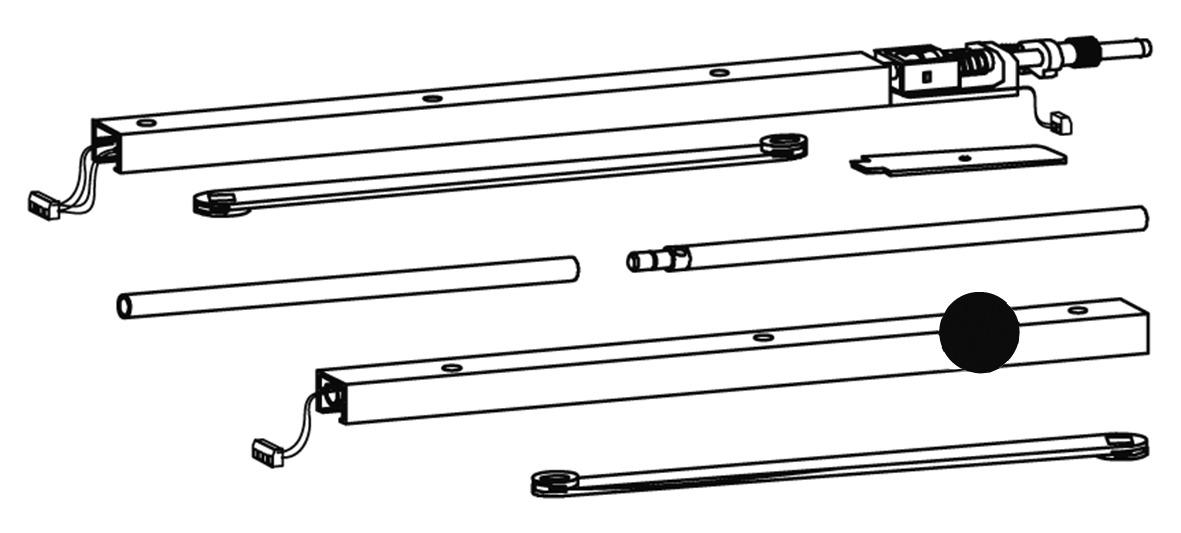 Glissières avec régulateur de fermeture DORMA G 96 GSR EMF 1 / K8 / K12